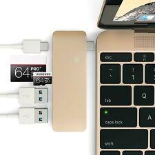 USB-C Multi-Port Hub, Aluminum 5-in-1 Connection Kit USB 3.0 HUB Micro/SD Car...