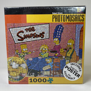 The Simpsons Family Breakfast 1000 Puzzle Sealed PHOTOMOSAICS Fold Out Poster