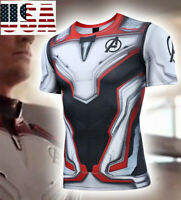 Avengers 4 Endgame Quantum War 3D Printed T-shirt Men's Compression Cosplay Tops
