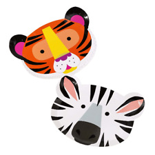 PARTY ANIMALS - ANIMAL FACE PLATES - JUNGLE PARTY, Birthday, Tableware, Go Wild!