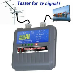 tv signal tester finder for digital TV Ariel industries AITVF makes your job EZY