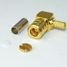 SMB female jack right angle crimp RG174 RG316 RG179 RF Coaxial connector Adapte