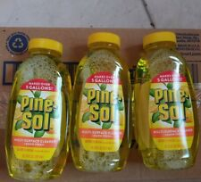 PINESOL MULTI- SURFACE CLEANER CONCENTRATE MAKES 5 GALL (3 BOTTLES) LEMON SCENT