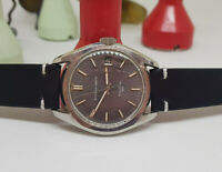RARE USED VINTAGE ETERNA-MATIC KONTIKI 20 GREY DIAL DATE AUTOMATIC MAN'S WATCH