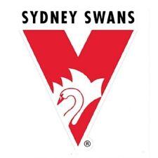 AFL BIG JUMBO SYDNEY SWANS STICKER - Wall Sign Man Cave Garage Footy Logo