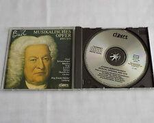 J..E. DAHLER / BACH Musical offering BWV 1079 SWITZERLAND CD CLAVES 50-198(1991)