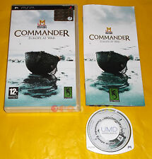 MILITARY HISTORY COMMANDER EUROPE AT WAR Psp Ver Italiana 1ª Ed ○ COMPLETO - AT