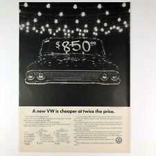 1966 Volkswagen is Cheaper VW Vintage Photo Print Magazine Ad