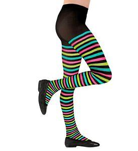 Kids Striped Tights Multicolor Age 1 2 3 4 5 6 7 8 9 10 11 12 13 14 Costume