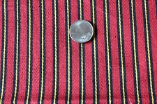 Antique French 19thC Victorian Red Stripe Silk Fabric Textile~Dolls,Christmas