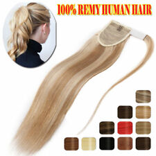 """16""""18""""20""""22"""" One Piece Clip In Ponytail Wrap on Remy Human Hair Extensions"""