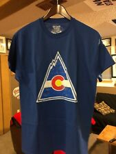 COLORADO ROCKIES VINTAGE HOCKEY T SHIRT -LARGE