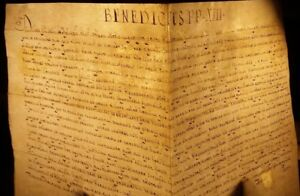POPE BENEDICT XIII BULLA MANUSCRIPT on VELLUM - 1726 PAPST BULLE Papal Pape Papa