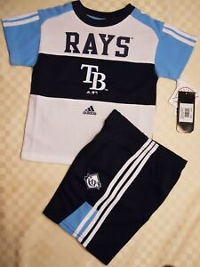 TAMPA BAY RAYS KIDS 2 PC MESH SHORT SET