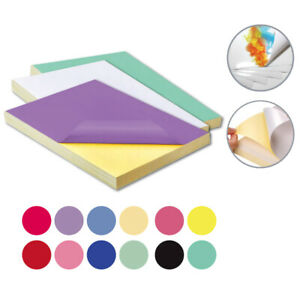 A4 Colour PVC Glossy Waterproof Self Adhesive Sticker Label Laser Print Paper