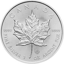 Silbermünze Maple Leaf 2016 1 Oz Silber 5 $ Canada