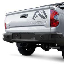 For Toyota Tundra 14-19 Premium Full Width Black Powder Coat Rear HD Bumper