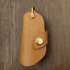 Handmade Car Key Case For BMW X5 X6 Blade Tanned Leather Key Holder Fob Cover
