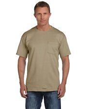 Fruit of the Loom Heavy Cotton Pocket T-Shirt. 3930PR