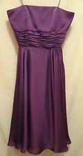 SZ 2 ML MONIQUE LHUILLIER STRAPLESS CHIFFON PURPLE DRESS, BRIDEMAIDS, PARTY, GUC