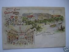 AK Dresden Strehlen Goldnen Krone Lith. um 1900