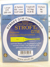 STROFT GTM VORFACH konisch gezogen monofil 9ft / 2,80 Meter Tip 0,27mm