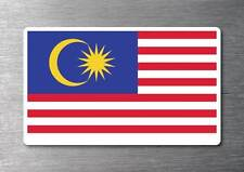 Malaysia flag sticker quality 7 year water & fade proof vinyl car laptop ipad