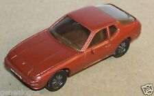 MICRO HERPA HO 1/86 1/87 PORSCHE 924 ORANGE MARRON METAL
