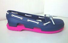 Crocs Ballerina Segelschuhe pink blau W 9 39 40  beach line boat shoe fuchsia