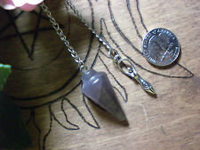 Pendulum Natural Amethyst Healing Purify Cleanse Power Fortune Telling
