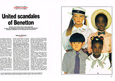 PUBLICITE ADVERTISING 1991 UNITED SCANDALES OF BENETTON (3 pages) LUCIANO