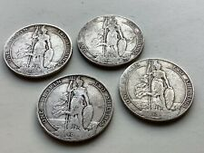More details for four attractive but rubbed edward vii sterling silver florins
