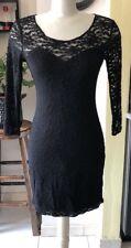 Guess Mini Black Laces Long Sleeve Women Dress Size Medium