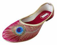 Women Shoes Indian Handmade Traditional Ballerinas Red Jutties UK 3.5 EU 36