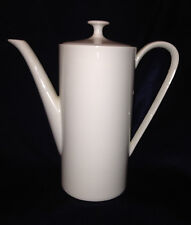 ARZBERG GERMANY GRAND PRIX WHITE MINI COFFEE POT 22 OZ 2050 HUTSCHENREUTHER