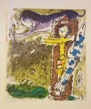 Orig Color Lithograph MARC CHAGALL Illus. Lassaigne CHRIST IN THE CLOCK Unframed