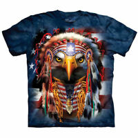 NATIVE AMERICAN INDIAN BALD EAGLE T Shirt The Mountain USA Flag Tee S-4XL 5XL