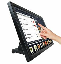 "New 19"" Touch Screen POS LCD TouchScreen Monitor Bar Restaurant Retail Kiosk"