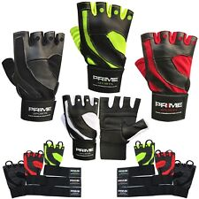 Prime Fingerless Weight Lifting Gym Fitness Training Body Building Gloves 117