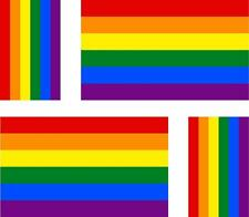 4 x flag decals sticker bike scooter car vinyl helmet motorcycle rainbow
