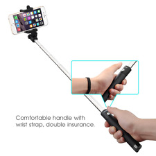 Cell Phone Selfie Stick Extendable Monopod Built Bluetooth Remote Shutter Photo