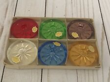 Vintage German Glass Tapered Candle holders (Set of 6) Home Decor
