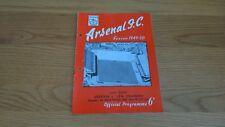 1949-50 Arsenal v AIK Stockholm - friendly