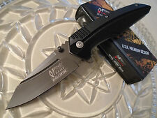 Mtech Xtreme Ballistic Assisted Open Grey Titanium Pocket Knife 440C MX-A813GP