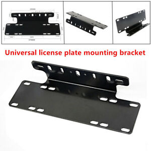 Front Bumper License Plate Mount Bracket Holder Powerful for Lamp/LED Light Bar