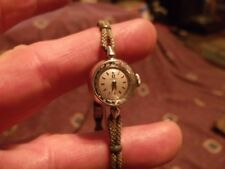 Vintage estate ca 1970's Omega 14 Kt Solid White Gold Ladies Watch  *Worldwide*
