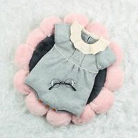 Newborn Infant Baby Girls Ruffle Knitted Romper Bodysuit Jumpsuit Winter Clothes