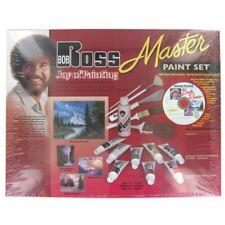 BOB ROSS Master Paint Set JOY OF PAINTING DVD BRUSHES OIL COLORS NEW