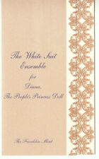 COA ONLY for The White Suit FM Diana doll Ensemble Certificate
