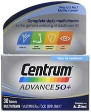 Centrum Advance 50 Plus Multivitamin Tablets, Pack of 30